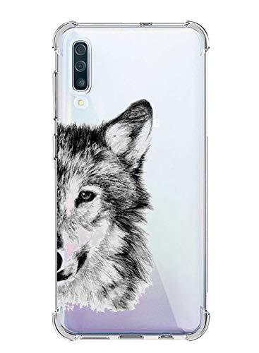 Oihxse Funda Compatible para Xiaomi Redmi Note 6/Note 6 Pro Ultra Delgada Ligera Transparente Silicona TPU Gel Suave Carcasa Elegante Patrón Lindo Anti-Rasguño Protector Caso Case (Cabeza de Lobo)