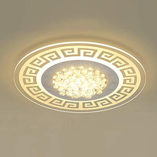 COCOL&Ultradünne LED-Deckenleuchte LED-Deckenleuchte, modernes minimalistisches Lampen, ultradünner Kristall- und Acrylkörper, Wohnzimmerbeleuchtung im Restaurant Lampe