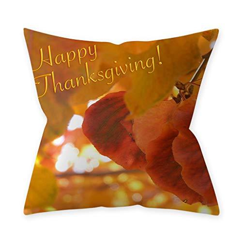 Sayla Halloween Deko Kissenbezug Kissenbezug Baumwolle Leinen Kissen Dekoration für Halloween Thanksgiving Weihnachten Herbst (K)