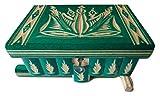 Nouvelle belle boîte magique, boîte mystère, boîte de puzzle, boîte secrète, fait main, boîte délicate, boîte en bois sculpté, cadeau parfait, jouet en bois (Vert)