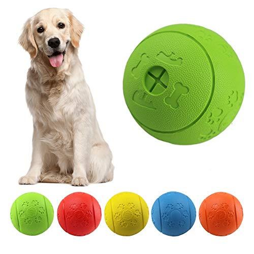 MEKEET Hundespielzeug-Ball, Leckerli-Spielzeug-Ball, aus Gummi, ungiftig, bissfest, Spielzeug-Ball für Haustier-Hunde, IQ-Trainingsball (Green)