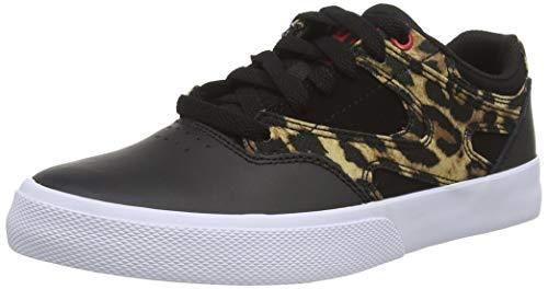 DC Shoes Damen Kalis Vulc Sneaker, Black/Leopard, 42 EU