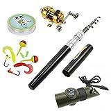 Pen Fishing Pole 39 Inch Mini Pocket Fishing Rod and Reel Combos Travel Fishing Rod Set - Pocket...
