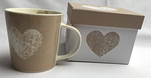 Kaffeebecher Tasse Becher in Box Herz ppd