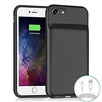 Battery Case for iPhone 6/6s/7/8 /SE 2020 Upgraded 6500mAh Slim Rechargeable Power Charging Case for iPhone 6/6s/7/8 /SE 2020  2nd Generation  Extended Battery Pack Protective Charger Case  Black
