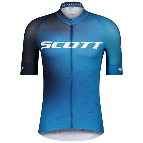 Scott RC Pro Fahrrad Trikot kurz blau/weiß 2021: Größe: XL (54/56)