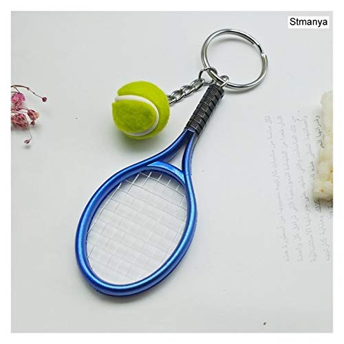 Yzymyd Llavero Mini Raqueta Tenis Colgante Llavero Llavero Llavero Anillo Finder Accesorios Accesorios Regalos para Adolescente Fan (Color : Blue)