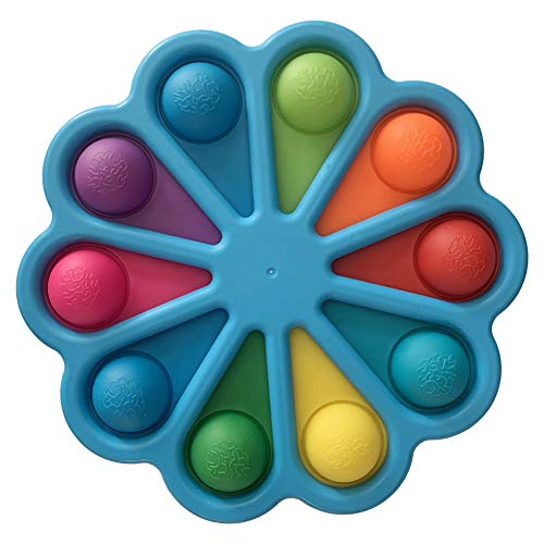 BoBoLily Simple Dimple Fidget Toy, Baby Finger Junta de ejercicio Push Bubble Anti-Stress Toy Fun Puzzle (Azul)