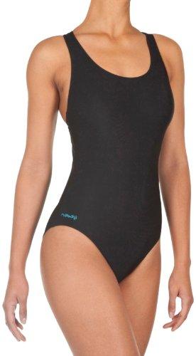 Nabaji - Bañador deportivo para mujer con espalda de nadador (negro), color - Blu, tamaño 18