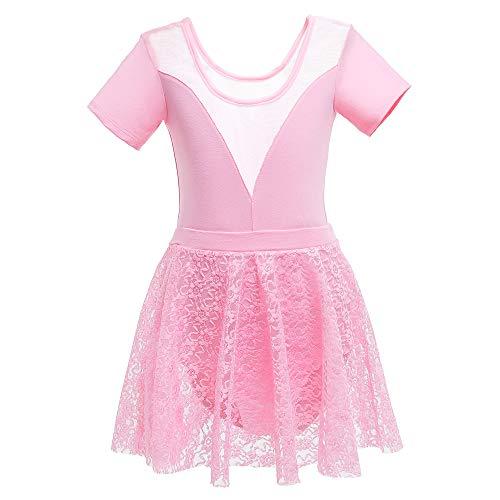 FONLAM Vestido Maillot de Ballet para Niña Conjunto de Dos Piezas Maillot...