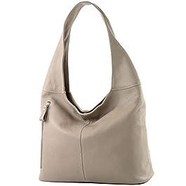 modamoda de – Ital Grand sac à bandoulière en cuir T166