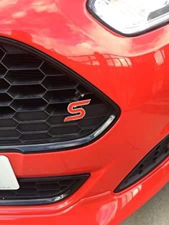 Rotes S Grill Zeichen Emblem Styling, mit Montageset
