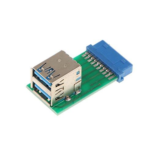 balikha 2 Puertos USB 3.0 SuperSpeed Conector a a Placa Adaptadora de Conector de 20 Pines