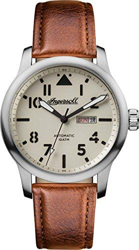 Ingersoll Herren Analog Automatik Uhr mit Leder Armband I01301