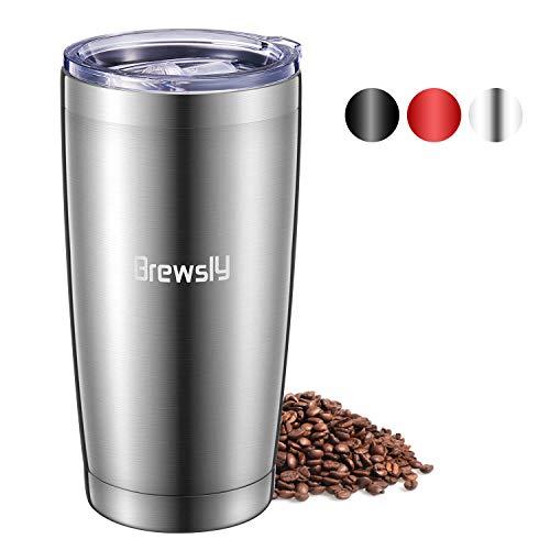 Brewsly Termo Cafe, 6 h Caliente y 12 h Frío, 900ml Botella Termica de Acero Inoxidable, Aislamiento de Vacío de Doble Pared Vaso Termico, Sin BPA