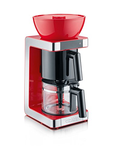Graef FK703EU FK 703 Filterkaffeemaschine, Kunststoff, 1.25 liters, Rot