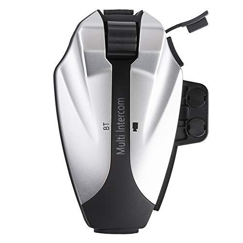 Intercomunicador Casco Moto, Auriculares Bluetooth para Motocicleta Tomar Foto Grabar Video Gama Comunicación Intercom de 3000m Bluetooth 3.0 Manos Libres Radio FM Impermeabilidad