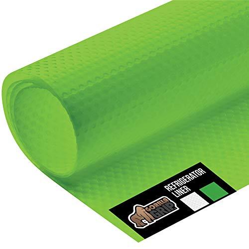 Gorilla Grip Premium - Forro antibacteriano para estante de nevera, rollo no adhesivo, 150 x 45 cm, duradero, alfombrilla para frigorífico de cocina para cajones de frutas y verduras, neveras, color verde