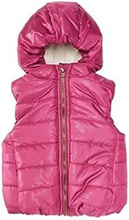 First Impressions Dark Pink Baby Girls Hooded Vest