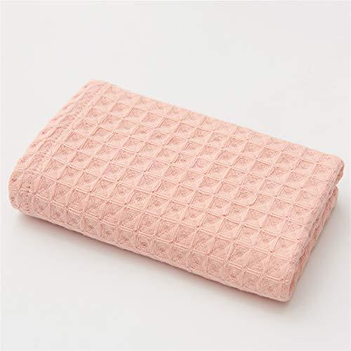 WGDPMGM Toalla 3 Piezas de 34 * 74cm algodón Puro Toalla Adulta de Secado rápido de Viaje de Viaje para Acampar Deportivo Toalla Suave (Color : Light Pink, Size : 34x74cm)
