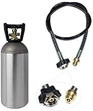 Ekonomiskt set: CO2-adapter högtrycksslang 1,0 m + 2 kg flaska CO2 lämplig för vattenkolatorer Grohe Blue Home Transfer CO...