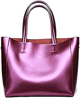 CSG Europe And The United States Fashion Trends Leather Women's Bags Shoulder Tote Simple Large Capacity Fashion Party Shopping Bag durable (Color : Red) waterproof