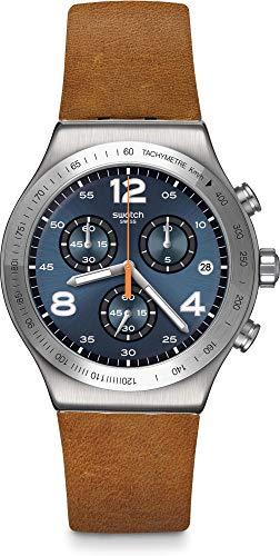 Swatch Irony Herrenuhr Chronograph Cognac Wrist braun/blau YVS470