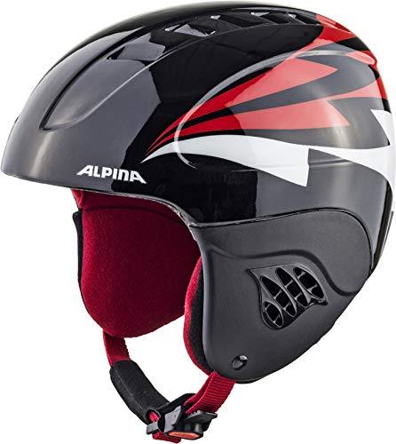 ALPINA CARAT Skihelm, Kinder, black-red, 51-55