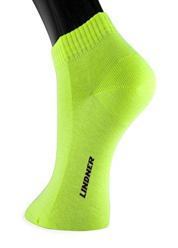 Lindner socks Shorties - Sneaker Quarter Socken (35-38, neon)