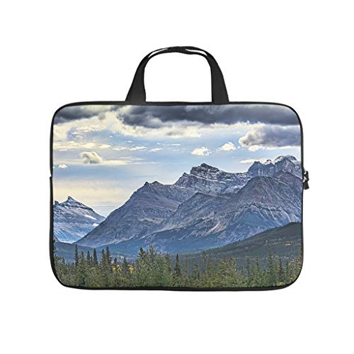 Landscape Mountains Snowhills Printed Laptop Sleeve Case Lightweight Neoprene Laptop Sleeve Bag Personalised Notebook Case for Students