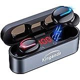 ワイヤレスイヤホン Bluetooth IPX8 防水 Bluetooth イヤホン 5.0 超軽量 两耳左右分離型 高音質 自動接続 ハンズフリー通話 LED電量表示 120時間待ち受 適用iPhone/ipad/Android-Siri対応