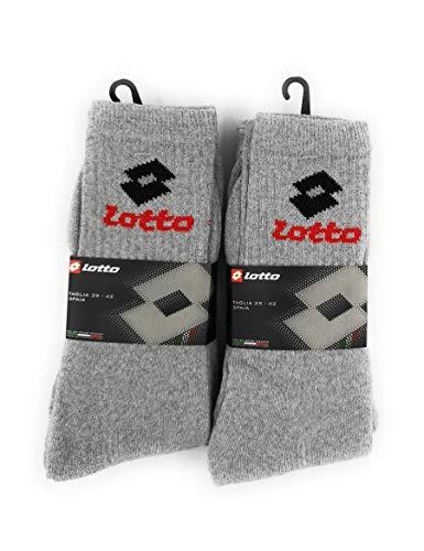 Lotto Socken, kurz, Frottee, 6 Paar, ., Grau, . 43/46