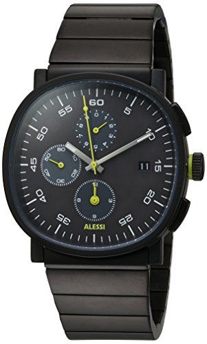 Alessi Men's AL5032 Tic15 Analog Display Analog Quartz Black Watch