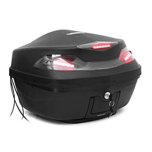 Bolso de la Cola del Tronco de la Motocicleta 48L, con la Bolsa de Almacenamiento de la Caja de Almacenamiento del Casco de luz LED Herramienta de la Bolsa de Equipaje Universal