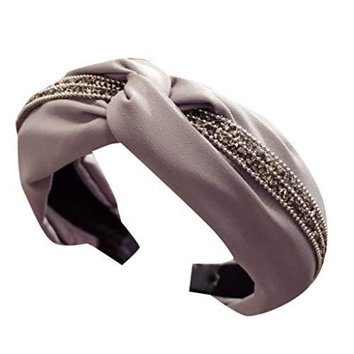 Yvelands Damen Mode Stirnbänder Breit Haarbänder Bogen Knoten Haarband Frauen Haar Kopfband Einfache Süße Mädchen Haar Stirnband Haarschmuck (1PC, F)
