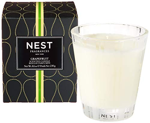 Nest Fragrances Classic Candle-Grapefruit, 8.1 oz-NEST01-GF, Stainless Steel