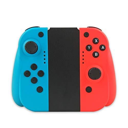 KAMLE Mando Switch para Switch Wireless Bluetooth Controller Gamepad Joystick Controlador De Reemplazo Izquierdo Y Derecho para Joy, Doble Vibración y Giroscopio de 6 Ejes (L) Azul/ (R) Rojo
