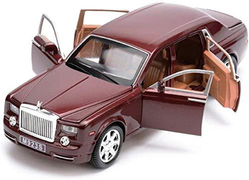 Hyzb Coche Modelo de Coche 1:24 Rolls-Royce Phantom Simulación de aleación de fundición a presión adorna la colección de Juguetes Coche de Deportes de joyería 20.5x7.5x5CM