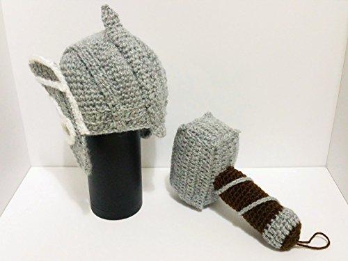 Mjolnir rasseln thor, Helm kostüm & Thor rassel