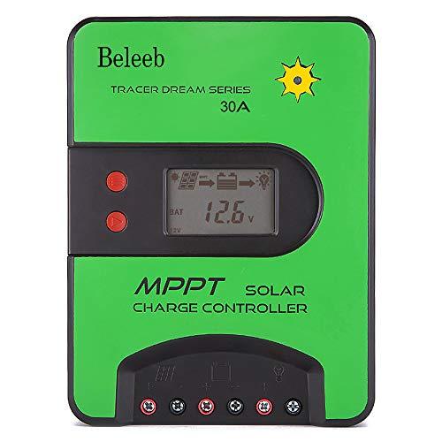 Beleeb 30A 12V/24V MPPT Solar Charge Controller,75V Max Input, PV Limited Power Input,Built-in Operation Log Aand Temperature Compensation