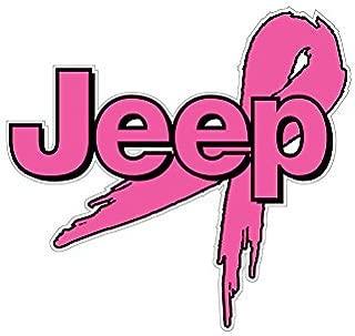 BOLDERGRAPHX 1066 Jeep logo Breast Cancer Awareness ribbon