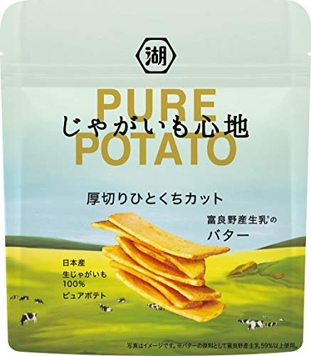 湖池屋じゃがいも心地厚切りひとくちカット富良野産生乳のバター30g×12袋
