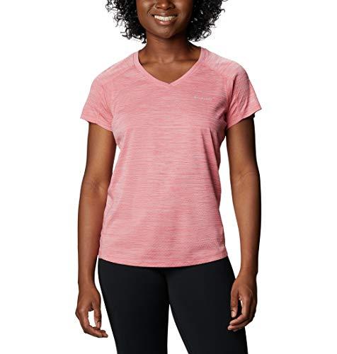 Columbia Kurzärmeliges T-Shirt für Damen, Zero Rules, Lachsrosa (Salmon Heather), M, 1533571