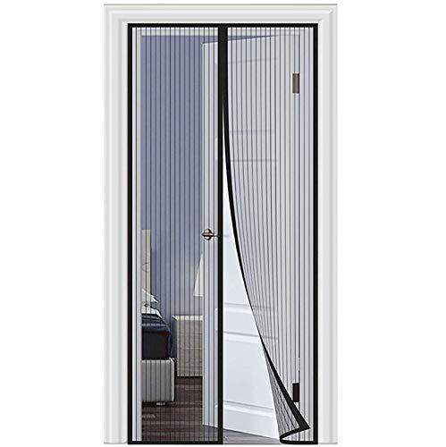 WEIZON Cortina Mosquitera para Puertas 175 x 270 cm Pantalla Magnética, Protección contra Insectos, Fácil De Instalar, Bueno para Niños Y Perros - (Negro)