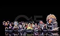 ワンピース黒ひげ海賊団10人、フィギュア海外 樹脂製G5ガレージキット