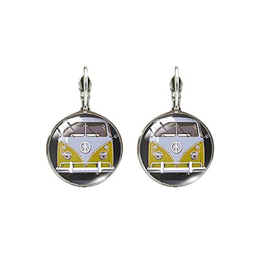 Pendientes de cristal hechos a mano con diseño de estilo hippie de la paz