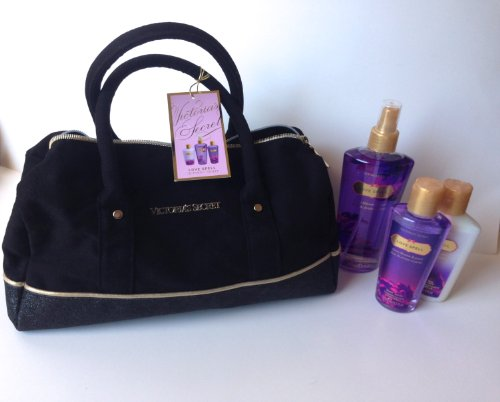 Victoria Secret Love Spell Large Purse Kit 2013 Body Lotion Gel and Body Mist