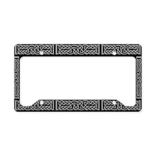 CafePress Celtic Knot Gray License Plate Holder Aluminum License Plate Frame, License Tag Holder