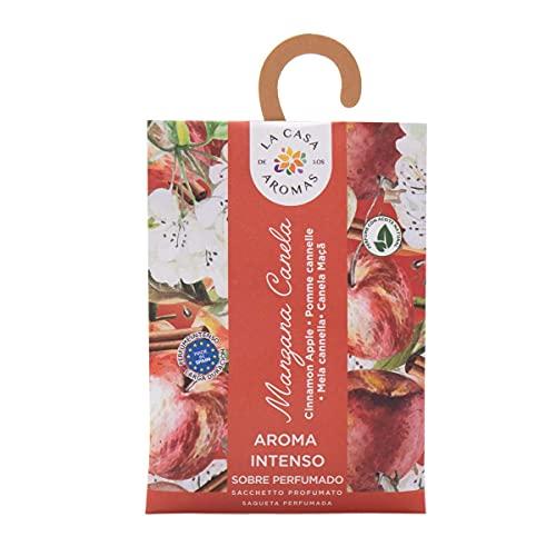 Set de 12 Sobres Perfumados, Bolsitas Aromáticas Olor Manzana y Canela, Saquitos para el Armario, Cajón, Ropa de Bebé, Zapatero, Maleta (Manzana y Canela)