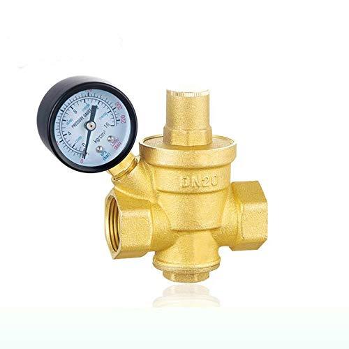 """HGFHGD 1/2""""DN15 Messing-Wasserdruckregelventile mit Manometerdruck, der das Druckreduzierventil des Ventil aufrechterhält"""